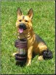 GERMAN SHEPHERD - DOG CARRY LANTERN SOLAR LIGHT(B-5195)