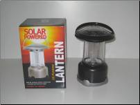 Silver Sun Powered Camping Lantern With Car Adapter (CP307)