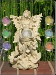 FAIRY STATUE WITH 7 COLOR CRYSTAL SOLAR LIGHT(F5078C)