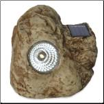 Brown Boulder Solar Spotlight Outdoor Power Rock  (0257145)